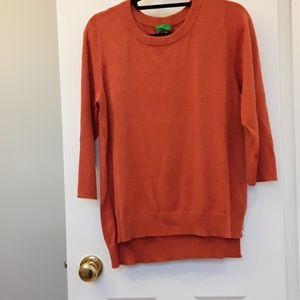 Sparkly orange sweater L